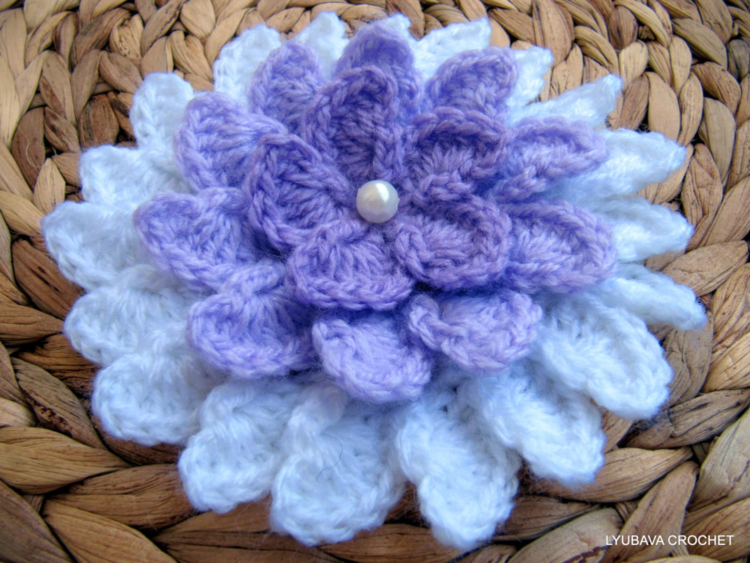 Crochet flower pattern lilac flower diy crafts unique zoom izmirmasajfo Image collections