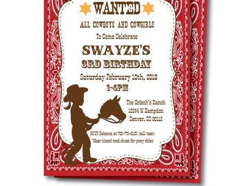Cowgirl Birthday Invitation with Editable Text, Printable Cowgirl Invitation, Cowgirl Party Invitation, Cowgirl Instant Download, Templett