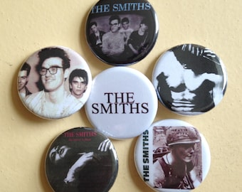 """The Smiths pin back buttons 1.25"""" set of 6"""