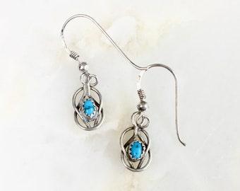 Vintage Sterling Navajo Turquoise Earrings