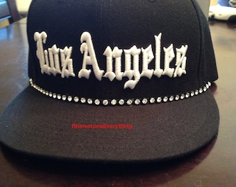 Rhinestone Los Angeles hat