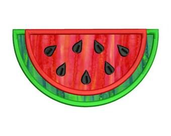 Applique Watermelon Slice Machine Embroidery Designs 4x4 & 5x7 Instant Download Sale