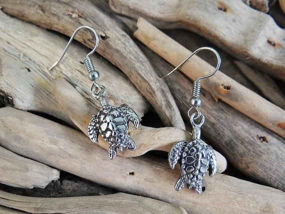 Australian Pewter Turtle Sea Turtle Earrings Ear Ring Rings Earring Ocean River