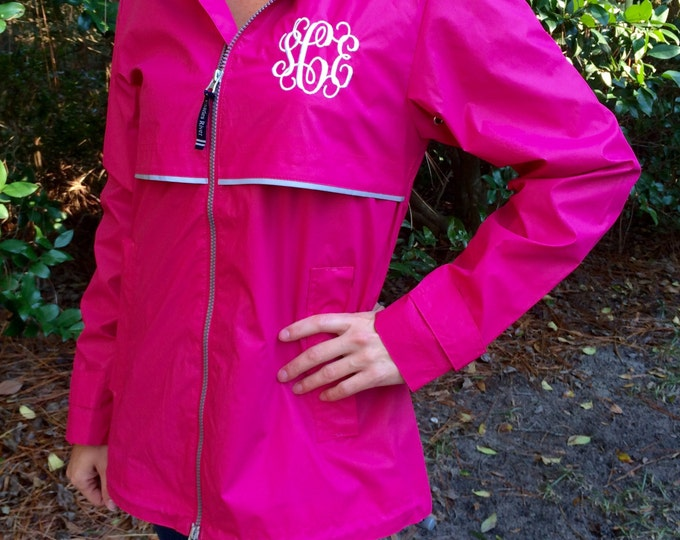 Monogrammed Rain Jacket - Monogrammed gifts - Charles River Apparel Rain Jacket - Charles River New Englander Rain Jacket