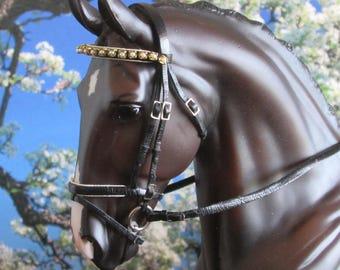 LSQ 1:9 Scale Dressage Bridle for Breyer/Stone models