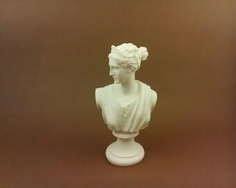 Artemis Diana Alabaster sculpture statue bust Ancient Greek Goddess of hunt