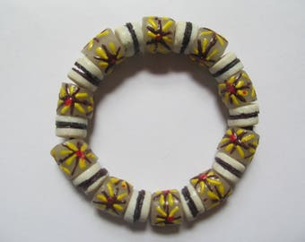 Sunburst Recycled Glass Bracelet