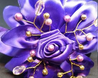 Blossoming Purple Rose
