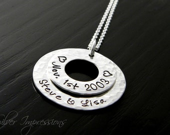 Personalized Washer Necklace / Hand Stamped Jewelry