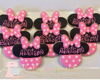 Minnie Mouse Cookies - One Dozen