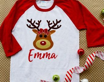 Darling Deer - Reindeer raglan shirt