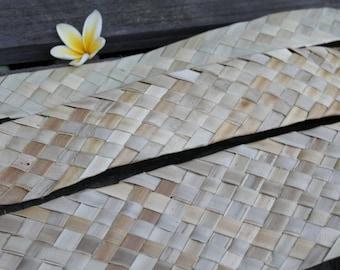 Lauhala, woven, Belting, ribbon - ONE YARD (91.5 cm) Tahitian costume supply, Polynesian craft supply, panandus