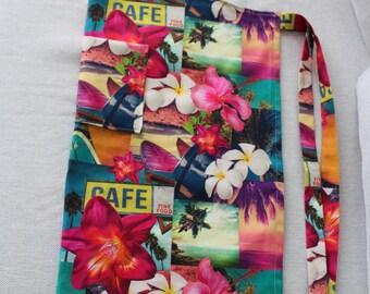 Hawaiian print fabric kitchen apron