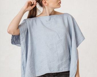Kimono top/ Linen top/ Oversized line square blouse/ Linen blouse/ basic linen top/ Kimono #6K