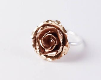 Brass Rose Ring