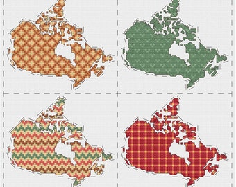 Canda cross stitch sampler - PDF pattern INSTANT DOWNLOAD