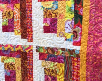 Tropical Delight Throw Quilt