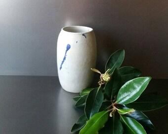 Farmhouse Stoneware Crock. Studio Earthenware vase. Classic.