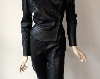 Michael Hoban North Beach Leather Black combination - Jacket Size 5/6 and Pants Size 8
