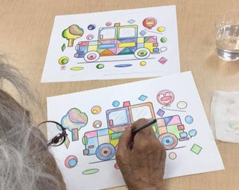 Coloring book 10 Cars Prevention of aging