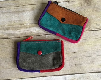Vintage Collection of Leather Wallets Coin Purses - Set of Two