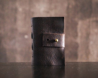 A7, Leather notepad, leather journal, Leather diary, Travel journal, Vintage notepad, bullet planner, Sketchbook, aged paper, leather book
