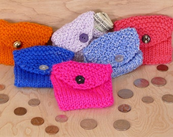 Knitted Coin/Change Purse