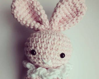 Crochet bunny teething ring
