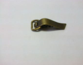 "Clasp - ""old gold"" brass clip 3.5 cm"