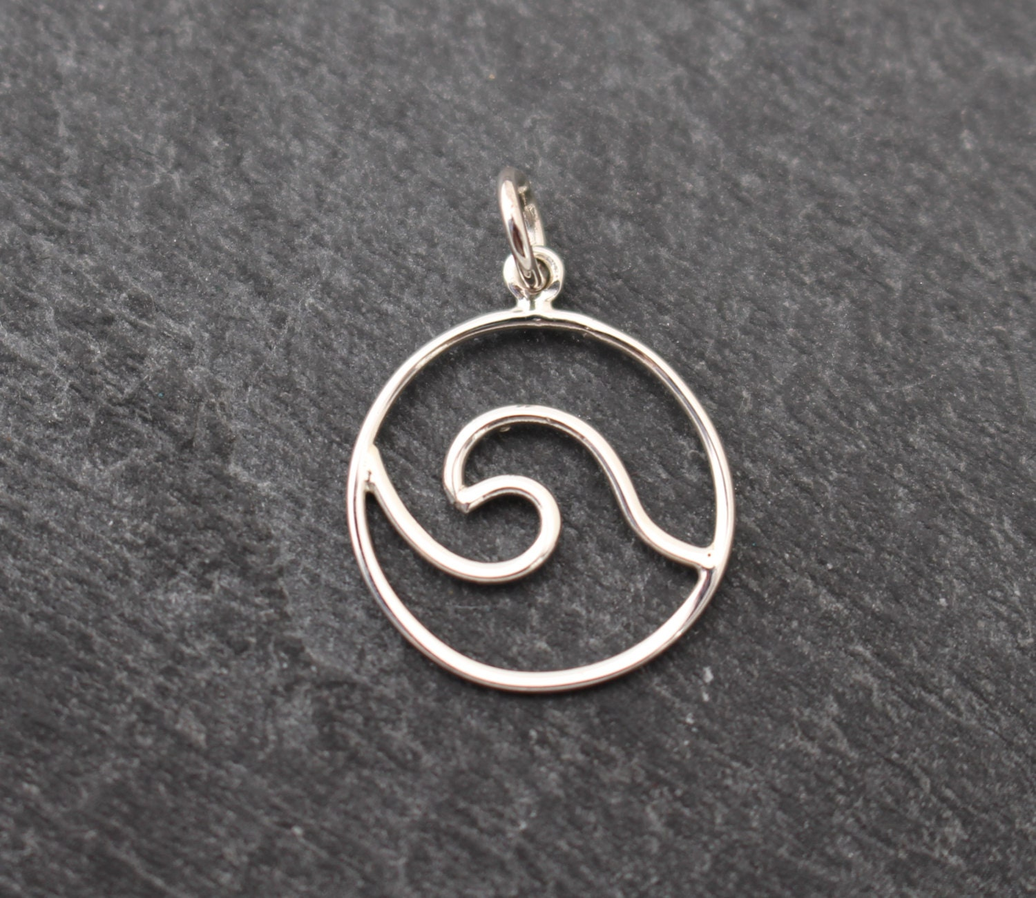 tosa unique charm by products frt fine gold ocean silver wave circle usa jewelry or handmade pendant in sterling