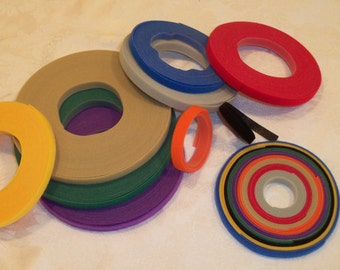 3 Yards Genuine VELCRO® Brand  Hook and Loop / Ultra-Thin / Extra Thin Fastener for Doll Clothes / Your Choice of Colors