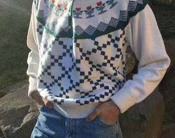 Eddie Bauer 1/4 button sweater Pullover Sweater
