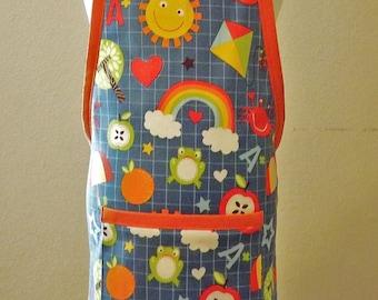 Toddler Apron Child Apron Preschool Apron Apron Strings Preschool Graduation Gift Birthday Gift Gift for Girl Gift for Boy Cotton Linens