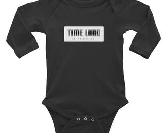 Time Lord In Training: Infant Long Sleeve Bodysuit