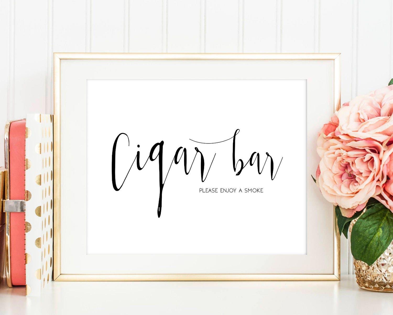 SALE Cigar Bar sign Cigar sign Printable Cigar Table Sign