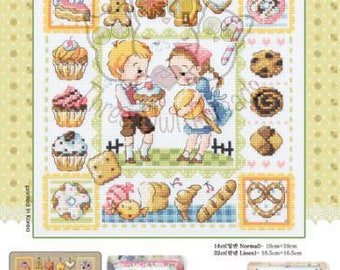 SodaStitch SO-3178 Hansel and Gretel - cross stitch pattern