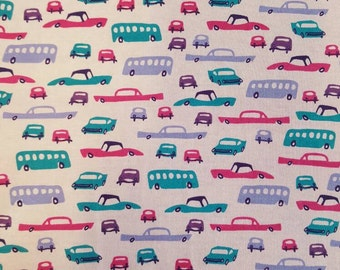 Cute Girly Cars on cotton interlock