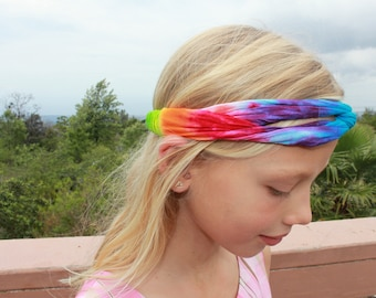 Tie Dye Headband | One size Adult and kids