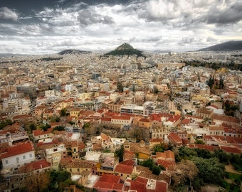 View of Athens, Travel Photography - Fine Art Print by Meleah Reardon