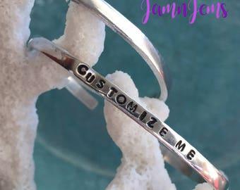 Personalized Bracelets for Women Message Bracelet Custom Coordinates Adjustable Cuff Bracelet for Woman Best Friend Gift for Her Wife
