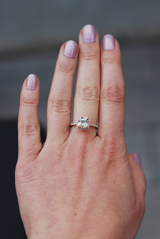 Jasmine sapphire engagement ring 2.5ct Square Cushion Jasmine ...