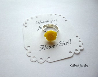 Flower Girl Rose Ring, Flower Girl Ring, Flower Girl Jewelry, Child's Ring, Adjustable Ring, Child's Rose Ring, Flower Girl Gift