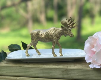 Moose Jewelry Holder, Large Moose Ring Holder, Catch All, Jewelry Dish, Home Decor
