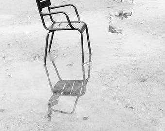 Paris Chair Pairs | Paris Print | Modern Art Print | Fine Art Photography | Parisian Art | Black and White Fine Art | Photography in Paris