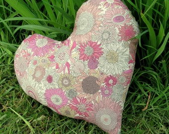 Breast Cancer Pillow.  Heart cushion.  Masectomy Pillow.   Made from Liberty Lawn.
