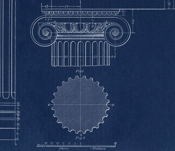 Blueprint home decor ionic column drawing blueprint fine blueprint home decor ionic column drawing blueprint fine art print architecture blueprint print wall poster art blueprint art art malvernweather Images