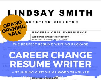 Resume Writer for Experienced Career Change | Career Coach & Professor Writes Your CV | Resume Writing with 30 Minute Coaching Call