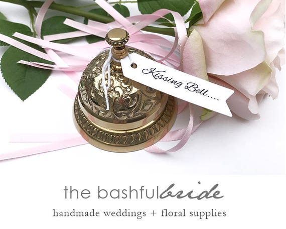 Kissing bell ring for a kiss wedding bell cow bell