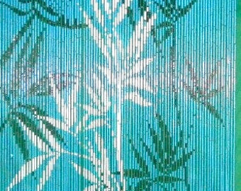 Blue Bamboo Curtain 90 Strands