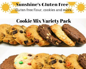 Gluten Free Cookie Mixes - 5 Flavor Variety Pack of 18 oz. mixes - You pick the flavors from any of our cookies.